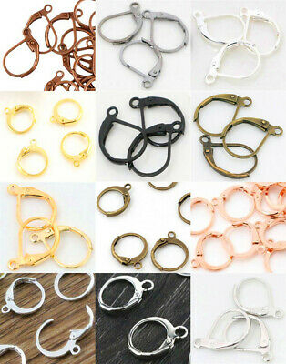 30/60Pcs Brass French Hooks Ear Wires Connector Clip Lever Back Earrings Finding