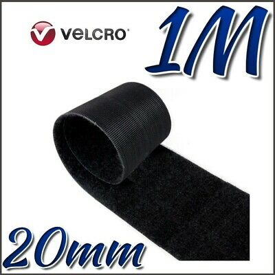VELCRO® Brand ONE-WRAP 20mm Double Sided Hook & Loop Straps Black Strips 1M