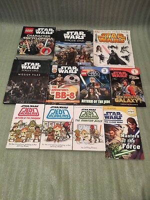 11 x Star Wars Book Bundle Including Lego Encyclopedia Rogue 1 Mission Files etc