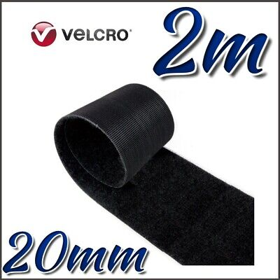 VELCRO® Brand ONE-WRAP 20mm Double Sided Hook & Loop Straps Black Strips 2M
