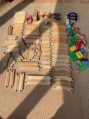 SEVENTY PLUS Wooden Train Track Bundle  (Thomas, Brio, Bigjigs) compatible.