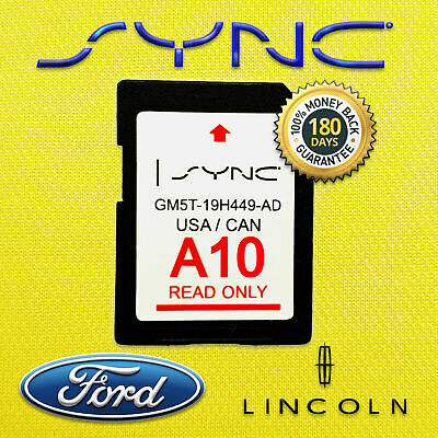 Ford Lincoln Latest Navigation Sd Card Gps A10 Map 2019 2018 Sync Update A9 A8