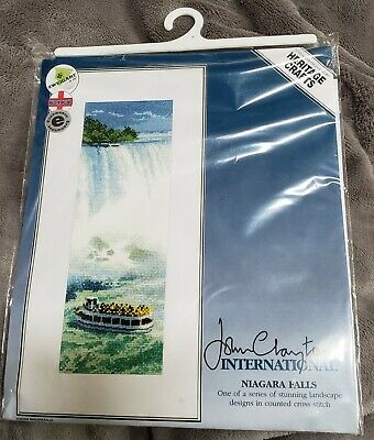 Niagara Falls~counted cross stitch pattern #1046~Vintage Landscapes Graph Chart