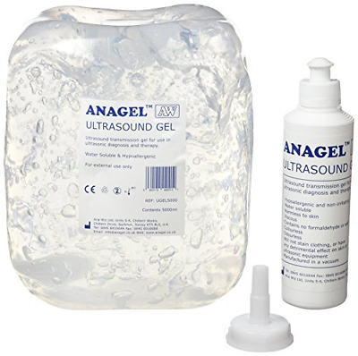Anagel UGEL5000 Ultrasound Gel Bottle 5L with 250ml refill bottle