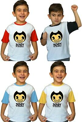 Bendy and The Ink Machine Kids Boy Girl T Shirt New Horror Game inspired Clothes