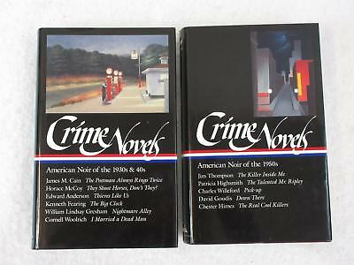 Lot of 2 CRIME NOVELS American Noir 1930s 1940s 1950s Library of America