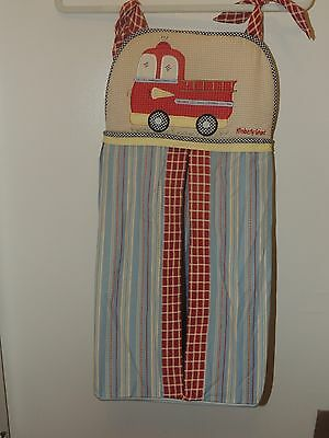 Cocalo Kimberly Grant Diaper Stacker Fire Truck Red Blue Yellow