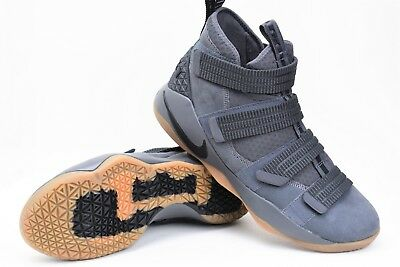 on sale 45fd7 a2de8 NEW NIKE LEBRON Soldier XI SFG Size 11 Grey/Gum Basketball Shoes 897646-003