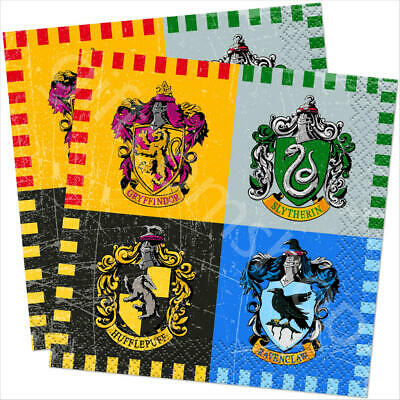 """16 Harry Potter 10"""" Party Napkins Serviettes Kids Birthday Disposable Tableware"""