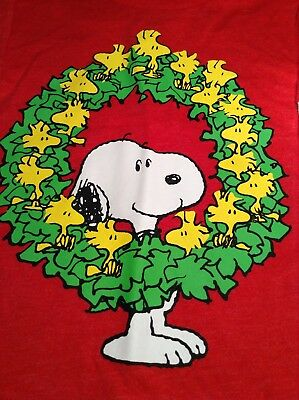 a967734dc88ac0 Peanuts Toddler Boys Snoopy Christmas Wreath Long Sleeve Red T Shirt 12M