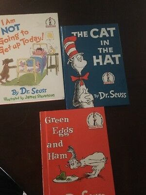 Lot of 3 Childrens Dr Seuss Books Bright and Early Beginning Beginner Readers