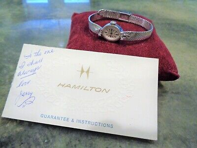 Vintage WWII Ace Pilot Wife's Hamilton 759 Watch Cocktail Watch Diamonds Repair