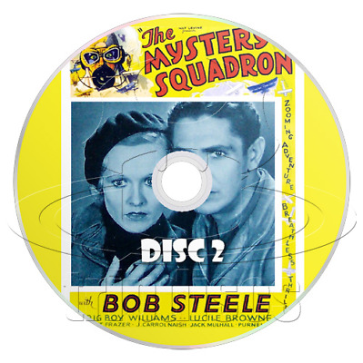 The Mystery Squadron (1933) 12 Chapter Mascot Movie Serial Cliffhanger (2 x DVD)