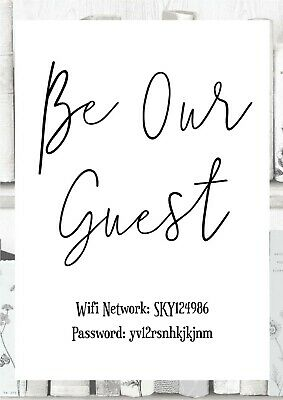 e82c9cb1e73f7 BE OUR GUEST wifi password print - personalised
