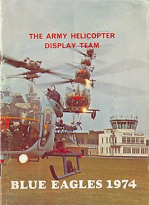 Jahrbuch Yearbook The Blue Eagles Army Helicopter Display Team 1974,selten,rare!