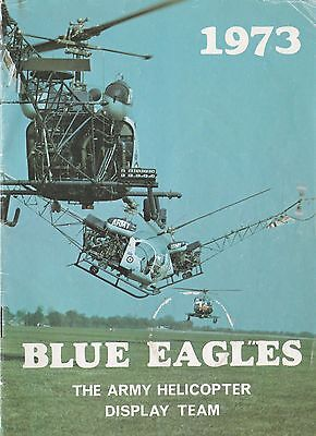 Jahrbuch Yearbook The Blue Eagles Army Helicopter Display Team 1973,selten,rare!