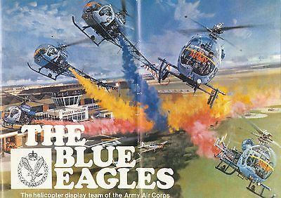 Jahrbuch Yearbook The Blue Eagles Army Helicopter Display Team 1976,selten,rare!