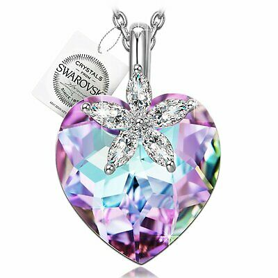 925 Silver Blossom Heart Necklace - Mother's Day Gifts For Mom Wife Women