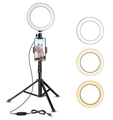 "8"" Selfie Camera LED Ring Light for YouTube Video/Pics Tripod/Cell Phone Holder"