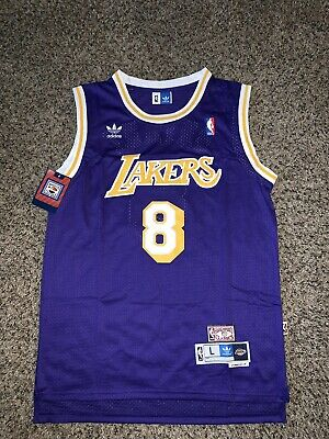 New Kobe Bryant Throwback ROOKIE Jersey #8 Los Angeles Lakers Away