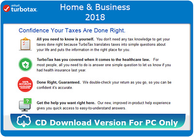 download turbotax home and business 2018