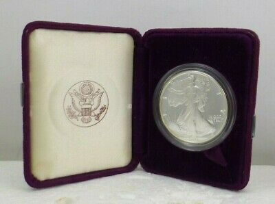 1991 S $1 PROOF American Silver Eagle In U.S. Mint Presentation Case