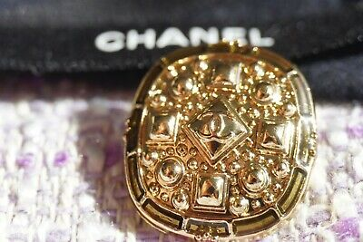 💞💝💟💜💛💚💙💋👄💔💅🖤CHANEL BUTTONS Logo CC 20 mm 0,8 inch Gold tone lot of 3