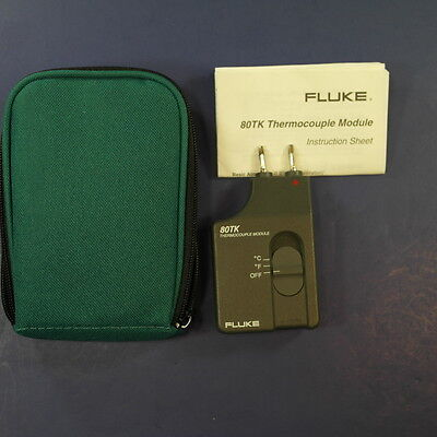 New Fluke 80TK Thermocouple Module, Green Case