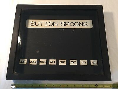 Sutton Spoons Display Case ~ Vintage Wood & Glass Fishing Lure