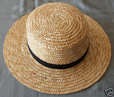 Men's Amish Straw Hat - S, M. L, XL, XXL, & Boys