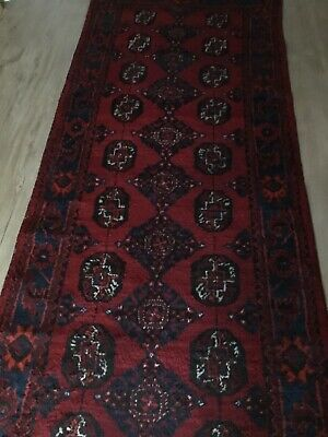 PERSIAN RUG/RUNNER. KHAL MOHAMMADI. All wool. Hand knotted. 365 x 110 cm.