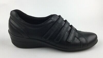 ECCO WOMENS BLACK Leather Suede Shoes 42 US 10 $39.99