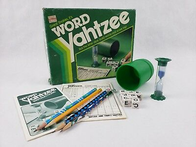 Word Yahtzee - Roll The Dice, Build Words and Score Big! 1982 Vintage Game by MB