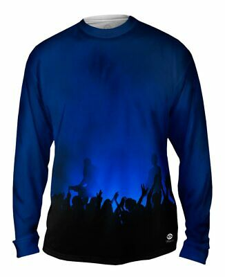 EDM Music Makes The Crowd Yizzam Mens Long Sleeve Tshirt