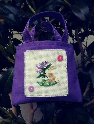 New Gift Completed Finished Embroidery Cross Stitch Kids Mini Purse