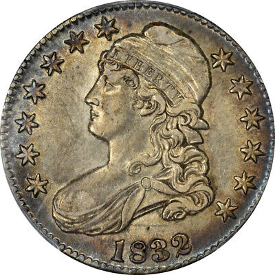 1832 50C Small Letters Capped Bust Half Dollar PCGS AU58 CAC