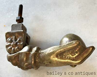 Antique French Brass Door Knocker Hand and Ball - OK054
