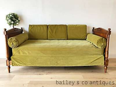 French Vintage Daybed Day Bed with Mattress Bolsters  - PQ179