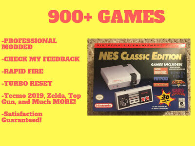 Authentic Nintendo NES Classic Edition Mini With 900+ Games Professionally Mod