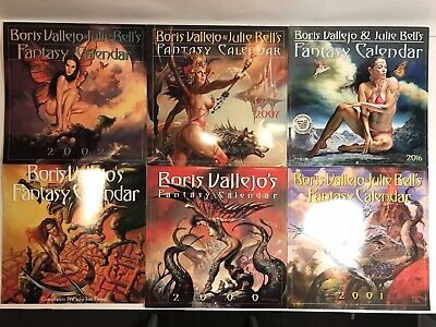 Sexy 1994 Boris Vallejo 12-month Mythology Calendar Collectibles
