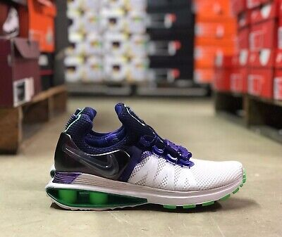 buy online 743bf 9ad88 Nike Shox Gravity Womens Running Shoes White Violet Green AQ8554 105 NEW  All Szs