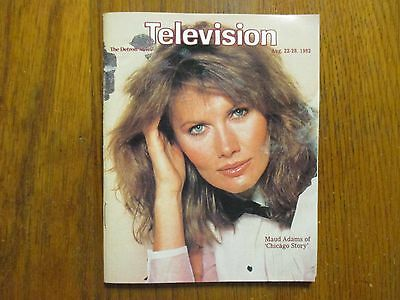 August 22, 1982 Detroit News Television Magazine  (MAUD  ADAMS/CHICAGO  STORY)