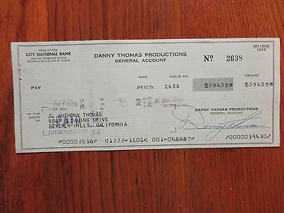 "DANNY  THOMAS  (Died in 1991)(""Make Room For Daddy"") Signed 1974 Cancelled Check"