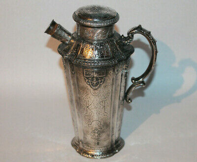 Antique Silver Plated ? Cocktail Shaker Pitcher Unmarked