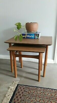 Retro Vintage Nest Side Lamp Coffee Bedside Hall Table Plant Stand Unique Design
