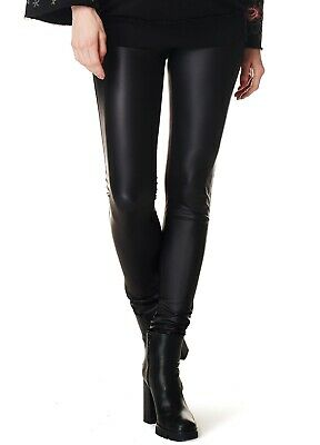 NEW - Supermom - Wet Look Maternity Pregnancy Womens Coated Leggings