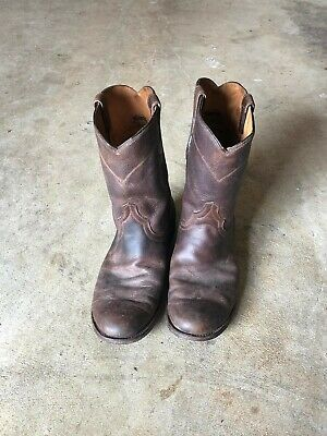 de89545fc20 FRYE WESTON ROPER Mens Size 10 Brown Leather Mid Calf Pull On Boots ...