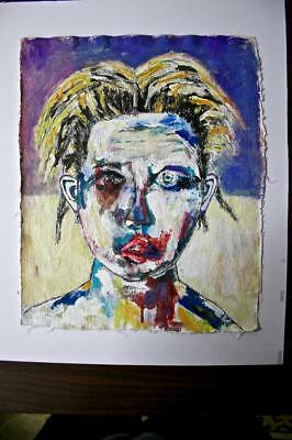 """DARLA"" CHUCK GREATREX 13"" x 16 1/2 "" ORIGINAL FRAMED PAINTING OUTSIDER NICE!"