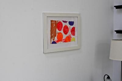 """UNTITLED"" CHUCK GREATREX 11"" x 15 1/2"" ORIGINAL FRAMED ABSTRACT PAINTING NICE!"