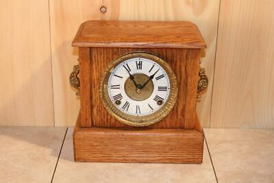 Antique Sessions 8 Day Gonging Mantle Clock In Working Condition